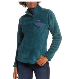 Patagonia Re-Tool Snap-T Fleece Pullover Teal M
